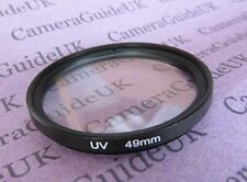 UV 49 mm ULTRA Violet Filtro Per Panasonic, Sigma, Samsung, Fujifilm, Nikon, Sony Lens