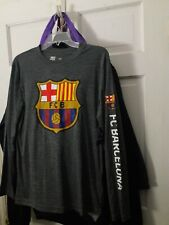 FC Barcelona soccer jersey Long sleeve T-shirt Barça fútbol camiseta camisa ~~ M