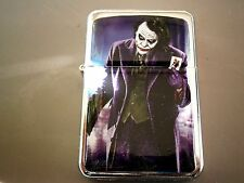 THE JOKER PURPLE KNIFE STAR LIGHTER MOVIE BATMAN POKER CARDS &EXTRA ZIPPO FLINTS