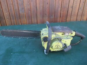 """Vintage PIONEER 3071 Chainsaw Chain Saw with 15"""" Bar"""
