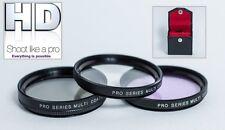 NEW 3PC PRO HD GLASS FILTER KIT FOR NIKON J1 V1 (10-100mm Lens)