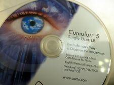 Cumulus 5 Individual Usuario Le Windows CD Software Disco Canto