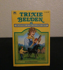 Trixie Belden #39 The Mystery of the Galloping Ghost Square Paperback RARE 1986