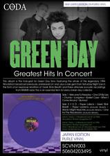 GREEN DAY Greatest Hits In Concert - Purple Vinyl lp ltd edition rare usa punk
