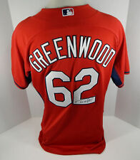 2015 St. Louis Cardinals Nick Greenwood #62 Game Issued Signed Red Jersey ST BP