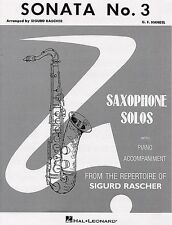 Sonata No. 3 Alto Sax and Piano Woodwind Solo NEW 000347808