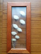 Pressed Flower Picture In Glass And Wooden Frame