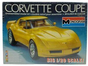 Monogram Vintage Chevrolet Corvette Coupe 1/20 Scale Model Car Kit #2404