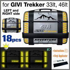18 Rifrangenti Adesivi Nero Giallo compatibile Suzuki V-Strom 650 GIVI Trekker