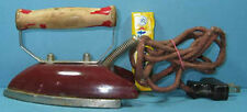 SM OLD PORCELEAN ELECTRIC IRON TOY or TRAVEL CI 869