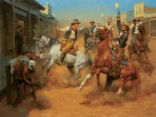 Our Grand Entrance by Andy Thomas Western Print 15.5x12