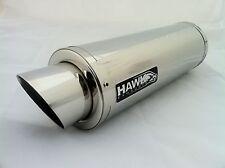 Kawasaki ZX7R 1996 - 2003 Hawk GP Stainless Steel Race Exhaust Silencer Can