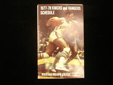 1977-78 New York Knicks & Rangers Pocket Schedule