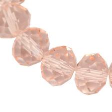 25 TSCHECHISCHE Kristall Perlen 6mm Glasschliff Vintage Rosa Rondell X85