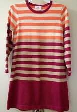 New ~ Hanna Andersson Plum Stripe Blocked Sweater Dress Girl's 110,  4-6yr.
