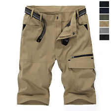 Men's Quick Dry Hiking Cargo Shorts Waterproof Army Outdoor Combat Casual Pants