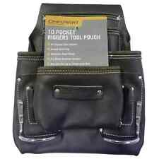 Craftright 10 Pocket Tan Leather Riggers Tool Pouch Belt