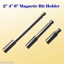 "3x Magnetic Bit Extension Holder 2""/4""/6"" Quick Change 1/4"" Hex Shank"