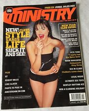 FIRST Issue No 1 MINISTRY Magazine (January 1998) PETE TONG, NEW YEAR CLUB GUIDE