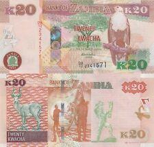 2012 Lion//Cassava//p50a UNC Zambia 5 Kwacha