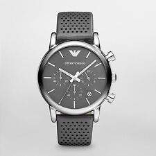 NEW EMPORIO ARMANI AR1735 MENS GREY CHRONOGRAPH WATCH