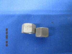 "2 NOS TRIUMPH MANIFOLD SMALL HEX NUTS    5/16"" X 26 CEI  70-1310"