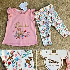 Disney BAMBI Baby Girls 2-Piece Outfit Set Clothes 12-18 Months - Primark
