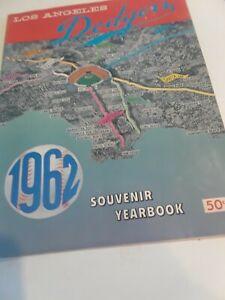 Vintage Original 1962 Los Angeles Dodgers Yearbook Koufax Drysdale