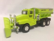 "Snow Plow Salt Truck 6"" Diecast  Metal With Swivel Plow Toy Boys & Girls, Green"