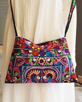 Hmong Crossbody Bags Multi Bird Embroidered Handmade Tribe Handbags Shoulder Bag