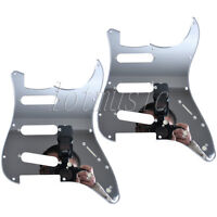 2Pcs Mirror Electric Guitar Scratch Plate 11 Hole SSS Pickguard for Fender Strat