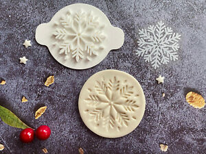 Snowflake | Embossing Stamp | ebs215 | Christmas | Cupcake | Fondant Cake