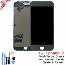 iPhone 7 Full Screen Replacement Black LCD Shield Plate Front Camera Ear Speaker