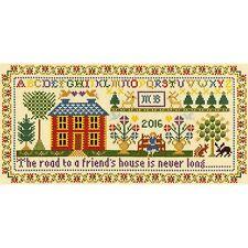 BOTHY THREADS FRIEND'S HOUSE SAMPLER CROSS STITCH KIT by MOIRA BLACKBURN