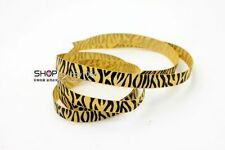 New hot 5YDS 3/8'' Printed Zebra Khaki Grosgrain Ribbon Hair bow DIY Craft