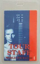 1987-88 STING LAMINATED BACKSTAGE PASS WORLD TOUR STAFF