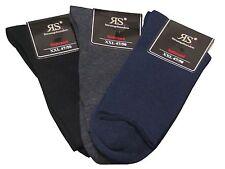 Herren Socken ohne Gummi Diabetiker XXL Schwarz Marine Grau 47 48 49 50