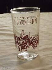 Vintage 1858-1958 F H Vondamm 100Th Anniversary Horse & Wagon Drinking Glass