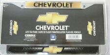 CHEVROLET LICENSE PLATE FRAME CHEVY LOGO CHROME GOLD BLACK NEW L831