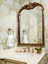 """Beaudry French Ornate Arched Wall Mirror 43"""" Arch Mantel Bathroom Traditional"""
