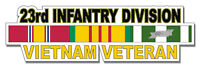 "23rd Infantry Division Vietnam Veteran 5.5"" Window Sticker 'Officially Licensed'"