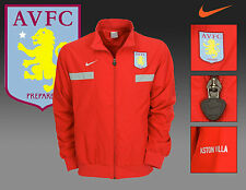 Neuf Rétro Nike Villa D'Aston Football Club Veste Survêtement Rouge M