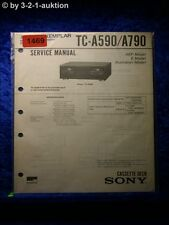 Sony Service Manual TC a590/a790 cassette Deck (#1469)