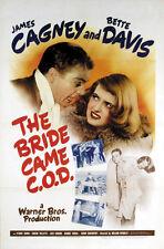 The Bride Came C.O.D. (1941) Bette Davis James Cagney movie poster print