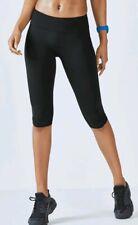 fabletics salar crop powerhold gym yoga leggings pants black mid rise S 8 10 NEW