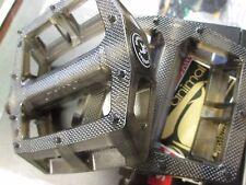 "ANIMAL Hamilton BMX BIKE PEDALS Smoked Clear FIT 3 PIECE CRANK 9/16"" Kink SM NEW"