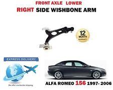 Per ALFA ROMEO 156 1997-2006 1X Asse Anteriore Braccio Oscillante Inferiore Destro Braccio Di Sospensione