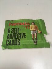 Top Sellers (Panini) Football 77 Sticker Pack Packet 4 Album 1977 english div 1