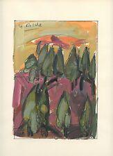 ALDE YVETTE DESSIN À LA GOUACHE 1967 SIGNÉ À LA MAIN HANDSIGNED DRAWING THÉÂTRE