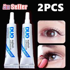 PK2 DUO Waterproof False Eyelashes Makeup Adhesive Eye Lash Glue Clear White